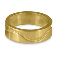 River Gold Wedding Ring 8mm in 14K Yellow Gold