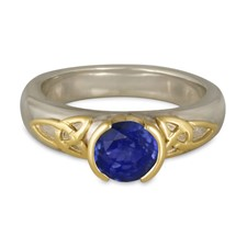 Trinity Solitaire Engagement Ring in Sapphire
