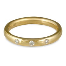 Simplicity Wedding Ring with Gems in 14K Yellow Gold