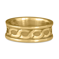 Wide Rope Ring in 14K Yellow Gold