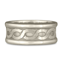 Wide Rope Ring in 14K White Gold