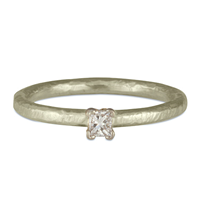 Playa Engagement Ring in 14K White Gold