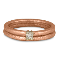 Playa Bridal Ring Set in 14K Rose Gold