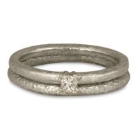 Playa Bridal Ring Set in 14K White Gold