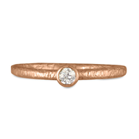 Playa Engagement Ring with Tube Mount  in 18K Rose Gold