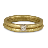 Playa Bridal Ring Set in 18K Yellow Gold