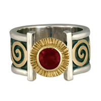 Keltie Open Ring in Garnet