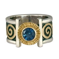 Keltie Open Ring in London Blue Topaz