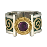 Keltie Open Ring in Amethyst