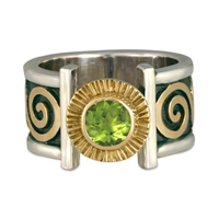 Keltie Open Ring in Peridot