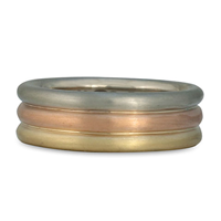 Trae Round Ring in 14K White, Yellow & Rose Gold