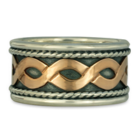 Donegal Twist Ring in 14K Rose Gold & Sterling Silver