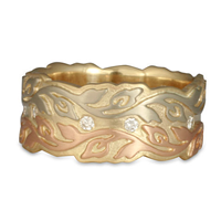 Liana Ring with Diamonds in 14K White, Yellow & Rose Gold