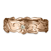 Borderless Persephone Wedding Ring with Gems in 18K Rose Gold