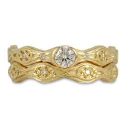 Trinity Twist Bridal Set in 18K Yellow Gold