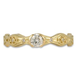 Trinity Twist Solitaire Engagement Ring in 18K Yellow Gold