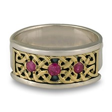 Renee Ring with Gems in 14K Yellow Design/Sterling Base