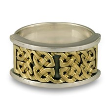 Renee Ring in 14K Yellow Gold Design w Sterling Silver Base