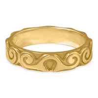 Borderless Ravena Wedding Ring in 14K Yellow Gold