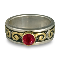 Bordered Ravena Engagement Ring in Ruby