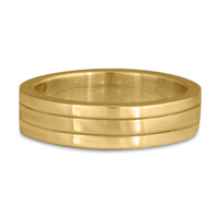Marcello Wedding Ring in 14K Yellow Gold