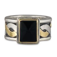 Donegal Ring with Gem in Onyx