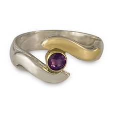 Donegal Eye Engagement Ring in Amethyst