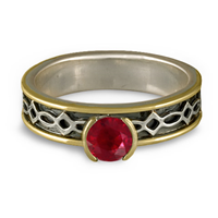 Bordered Felicity Engagement Ring in Ruby
