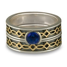 Bordered Felicity Bridal Ring Set in Sapphire