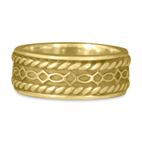 Felicity Twist Wedding Ring in 18K Yellow Gold