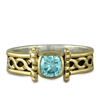 Open Rope Ring in Swiss Blue Topaz