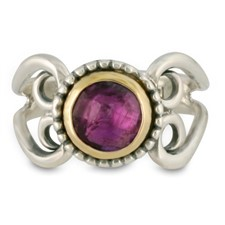 Passion Flower Ring in Amethyst