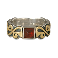 Madelaine Ring in 14K Yellow Gold Design w Sterling Silver Base