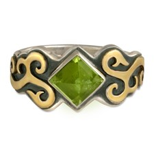 Wind Horse Ring in Peridot
