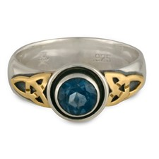 Trinity Cup Ring in London Blue Topaz