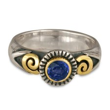 Medina Ring in 14K Yellow Design/Sterling Base