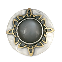 Moon Ray Ring in 14K Yellow Design/Sterling Base