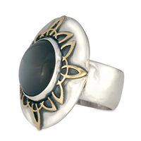 Moon Ray Ring in Two Tone