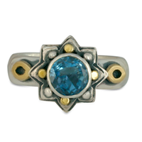 Sunrope Ring in London Blue Topaz