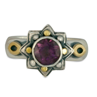 Sunrope Ring in Amethyst