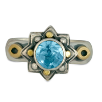 Sunrope Ring in Topaz: Swiss Blue