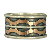 Treads Ring in 14K Rose Gold & Sterling Silver