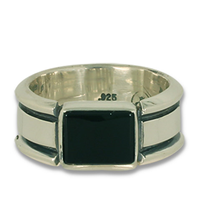 Belt Ring Rectangle in Sterling Silver