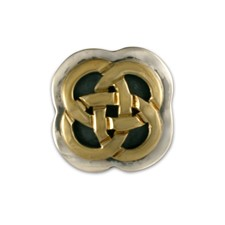 Sita Tie Tack in 14K Yellow Gold Design w Sterling Silver Base