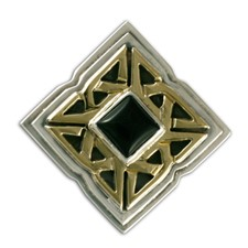 Celtic Corners Button Cover in Onyx