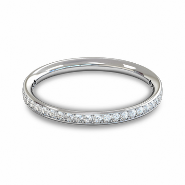 Fairtrade Gold Diamond Grain Set Eternity Ring in 18K White Gold