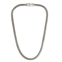 Woven Silver Chain 5 5x4  in Sterling Silver
